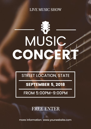 Simple Music Concert Poster Design
