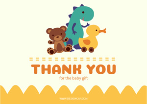 Cute Thank You Card Design