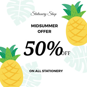 Summer Offers Instagram Post Design