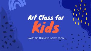 Art Classes For Kids Presentation Design