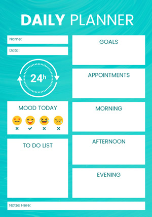 Daily Plan Schedule Design