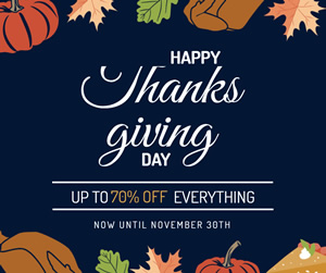Thanksgiving Day Sale Facebook Post Design