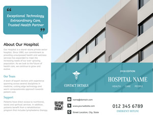 Advancing Hospital Brochure Design