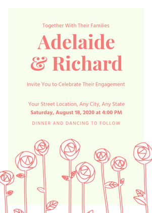 Sweet Engagement Invitation Design