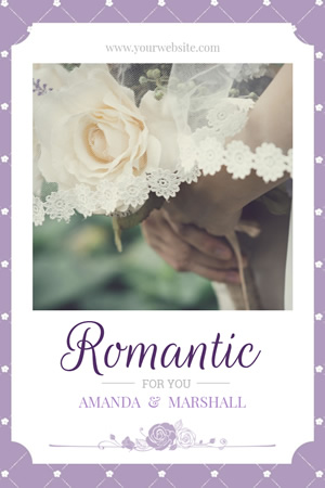 Romantic Wedding Pinterest Graphic Design