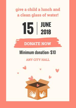 Free Donation Poster Designs Designcap Poster Maker