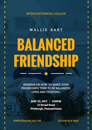 Balanced Friendship Poster design
