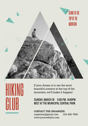 Club Recruit Hiking Club Flyer Flyer Design