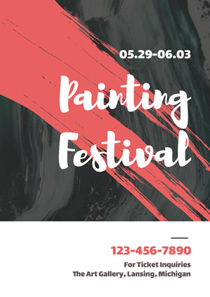 Painting Festival Ticket Booking Poster Poster Design
