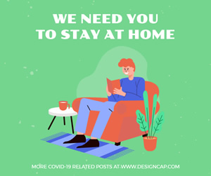 Stay at Home Facebook Post Design