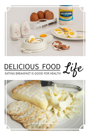 Delicious Food Pinterest Graphic Design