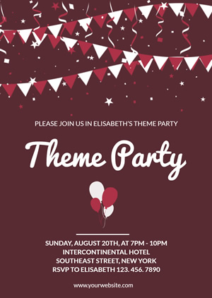 Cheering Party Invitation Design