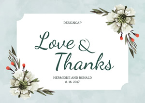 Wedding Thank You Card Design
