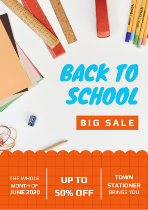 Stationery Shop Sale Poster Poster Design