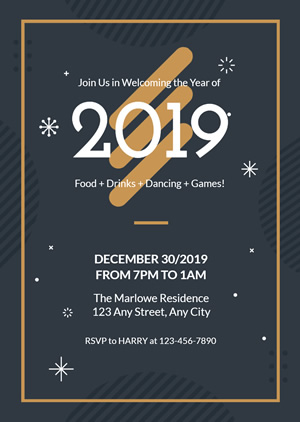 Happy New Year Invitation Design
