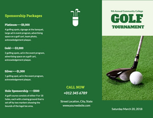 Golf Sport Brochure Design