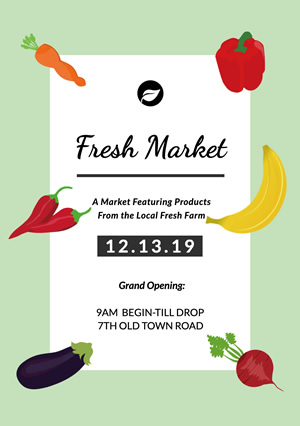 Fresh Fruit and Vegetables Market Flyer design