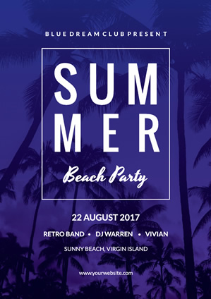 Summer Beach Party Virgin Poster Design