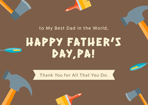 Tools Fathers Day Card Design