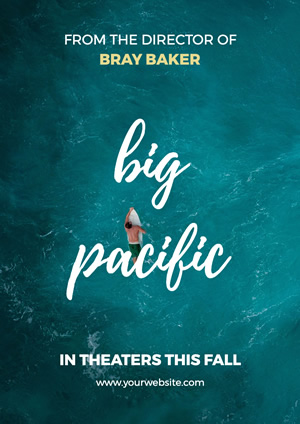 Pacific Ocean Movie Poster Poster Design