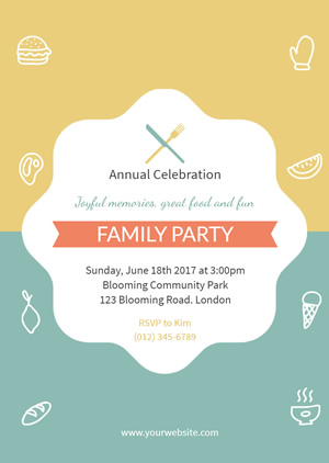 Party Family Invitation Design