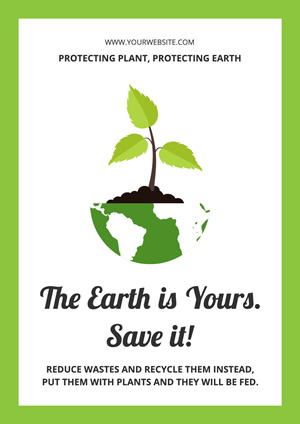 Earth and Sprout Environment Protection Poster Poster Design