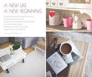 New Life Facebook Post Design