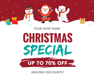 Christmas Sale Facebook Post Design