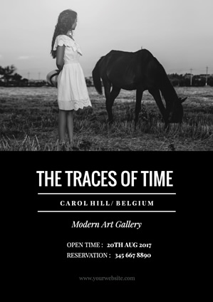 Traces of Time Exhibition Poster Poster Design