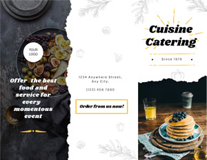 Catering Services Brochure Design