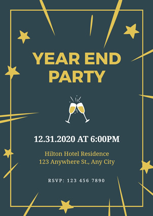 Year End Party Invitation Design