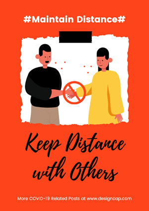 Maintain Distance Poster Design