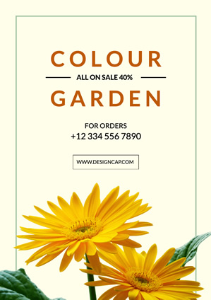 Flower Shop Colour Garden Poster Poster Design
