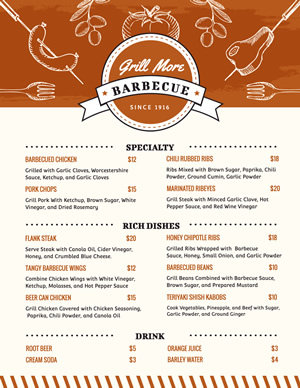 Menu De Churrasco design