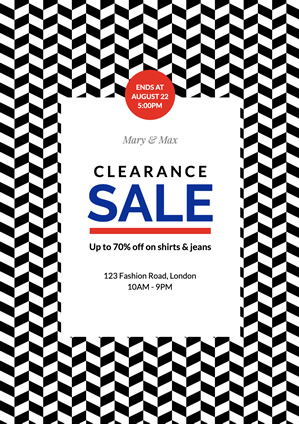 Sale Clearance Poster Poster Design