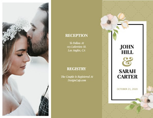 Romantic Wedding Brochure Design