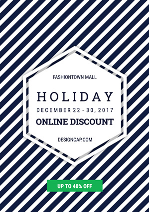 Sale Mall Holiday Online Poster Design