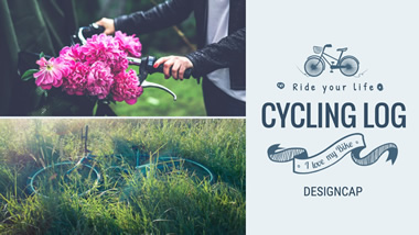Cycling Log YouTube Channel Art Design