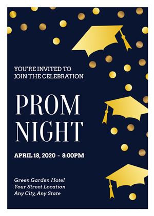 Graduation Prom Invitation Design