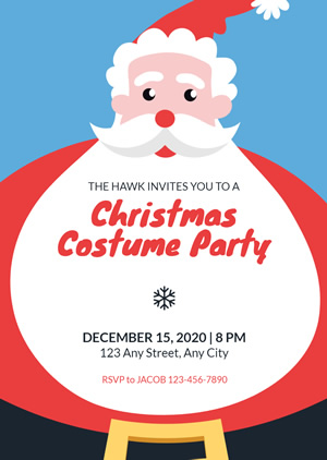 Christmas Costume Party Invitation Design