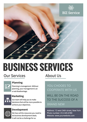 Business Services Poster Design