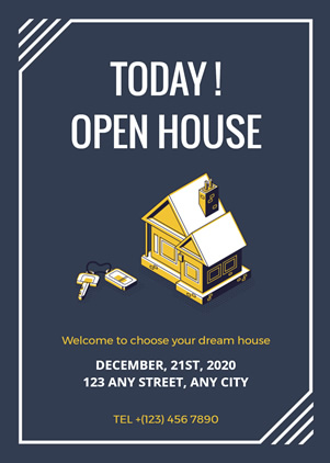 Open House Invitation Design