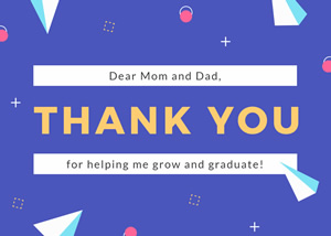 Graduation and Thank You Card Design