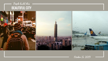 Beautiful City YouTube Channel Art Design