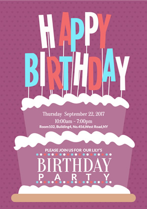 Party Birthday Poster Design