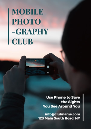 Mobile Photography Club Flyer Design