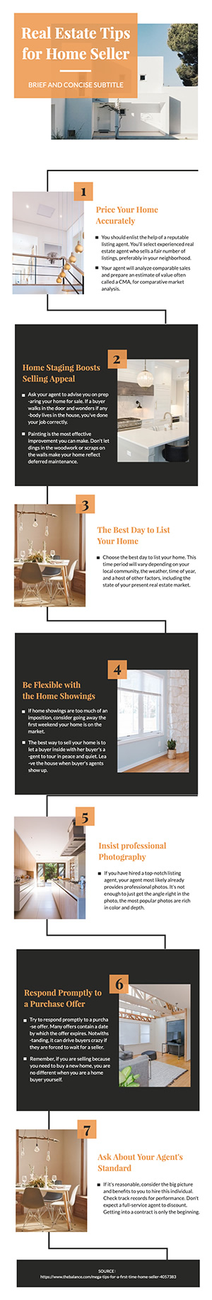 Real Estate Tips Infographic Design