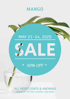 Minimalism White Clothing Store Sale Poster Design