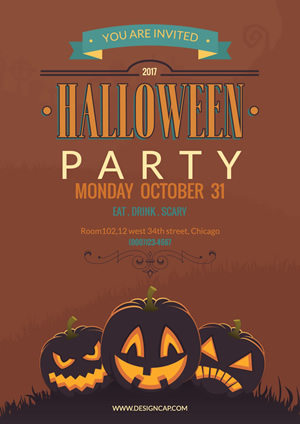 Party Halloween Poster Design