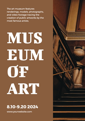 Rustic Brown Art Museum Poster Poster Design